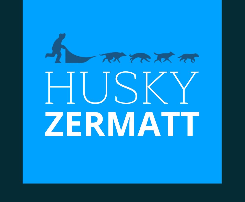 Husky Schlittenhunde Zermatt | kleines Logo