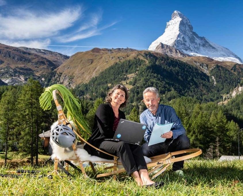 Gianni & Barbara Mazzone von Huskies Zermatt